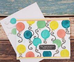 Colorful Balloon Card