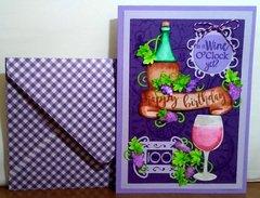 Wine Lover's Birthday Card
