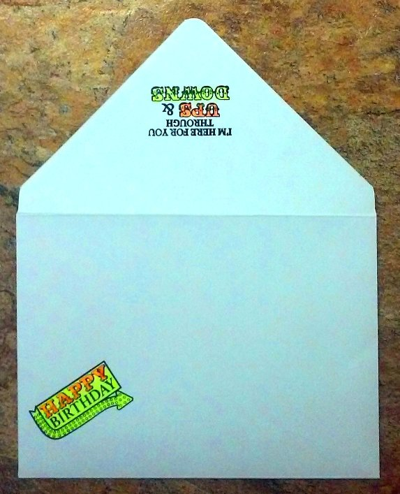Bacon Lover's Birthday Card - Envelope