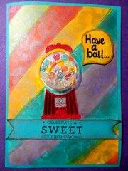 Gumball Shaker Card