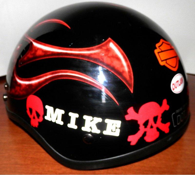 Motorcyle helmet decoration