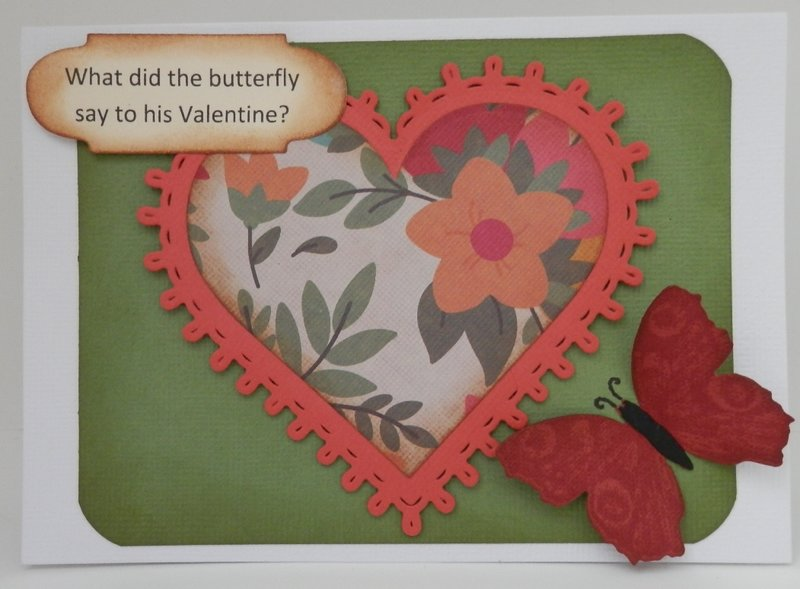 Butterfly Riddle Valentine Card