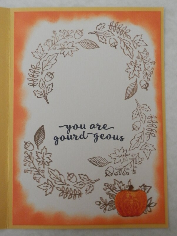 Happy Fall Ya'll - inside of card