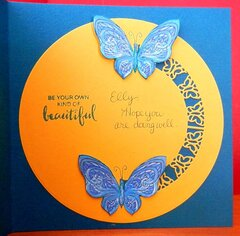 Lady With Butterfly Card - inside card