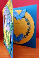 Lady With Butterfly Card - side view
