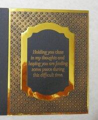 Embossed Sympathy Card - inside