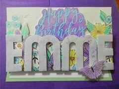 Birthday Card Easel Card