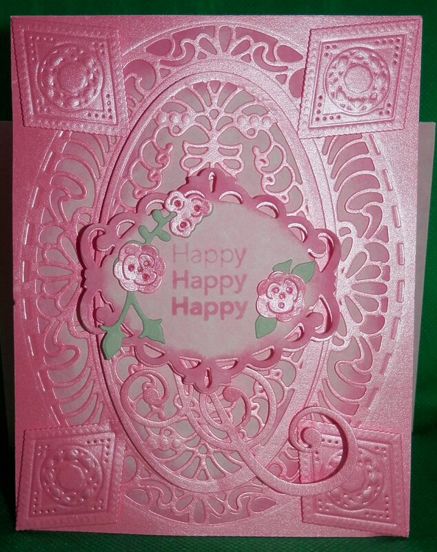 Pink Layered Birthday Card