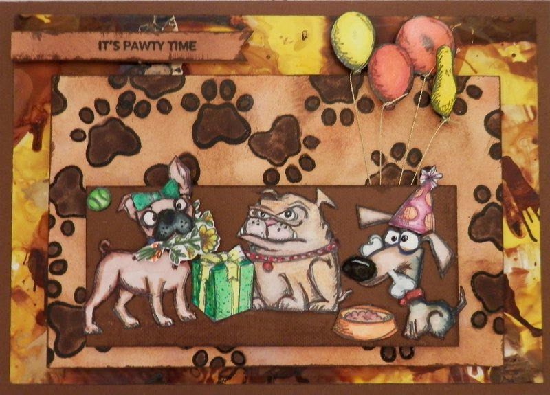 PAWty Time Card