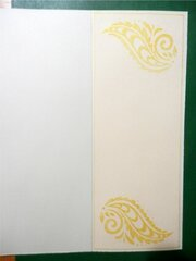 Paisley Thank You Card - inside