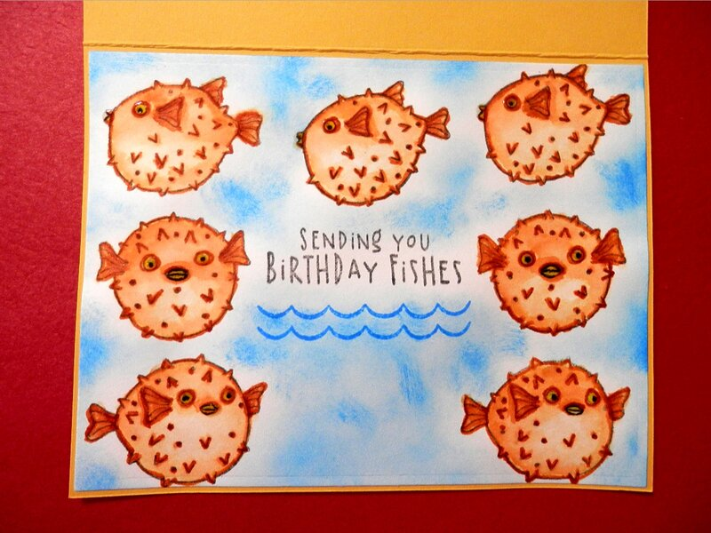 Nautical Birthday Cards - inside