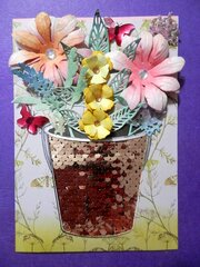 May Day Card with Butterflies