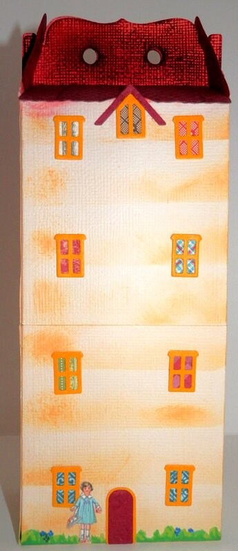 Paper Doll Storage House - back of house