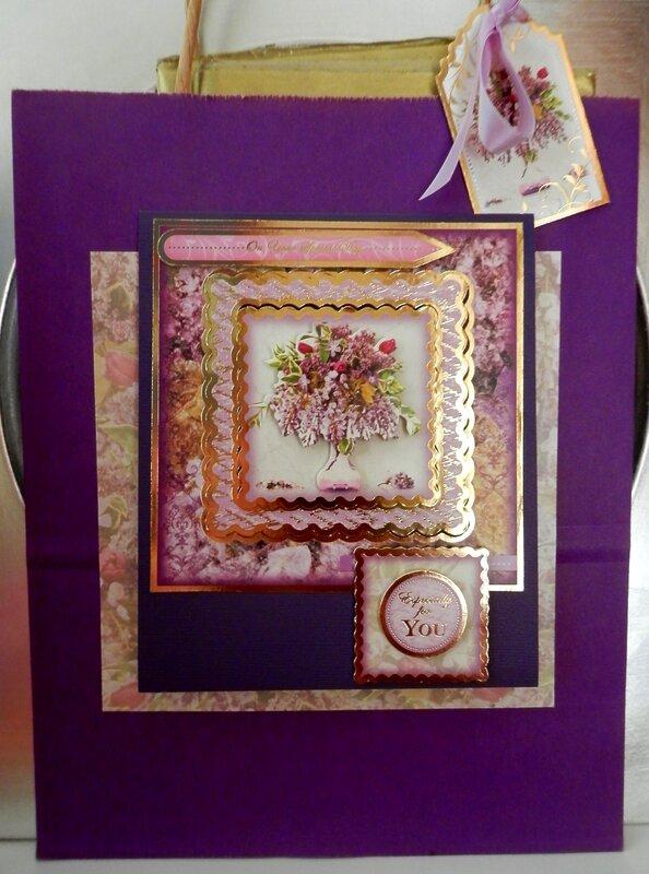 Card and Gift bag - Purple