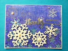 Thanks Snowflake Card