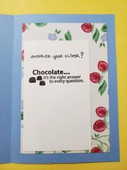 Strawberry Birthday Card - inside