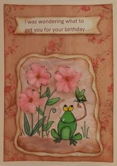 Frog Birthday Card