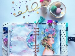 Purble & Blue Planner Spread