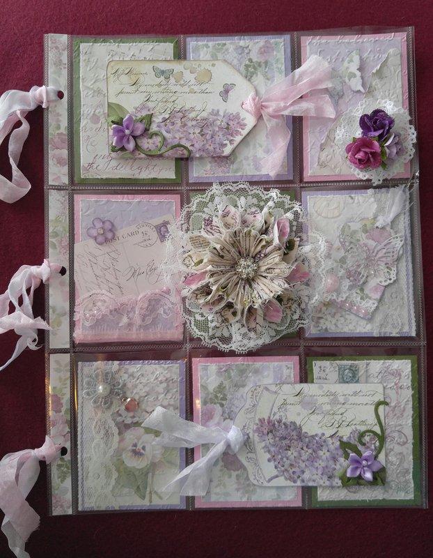 Stamperia Lilac flowers for Elizabeth P- June '18