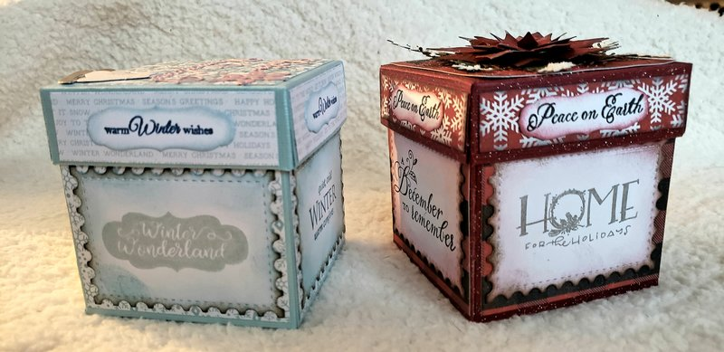The front of the 2-drawer gift box