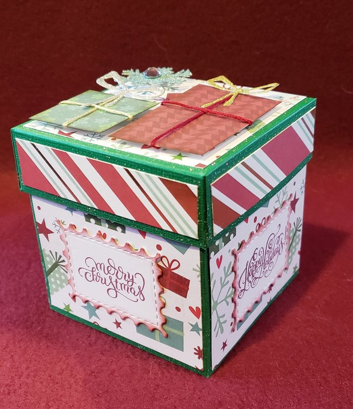Two tiered gift box for my grandson