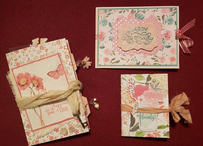 Birthday gifts and card for Rebecca (Nunya).