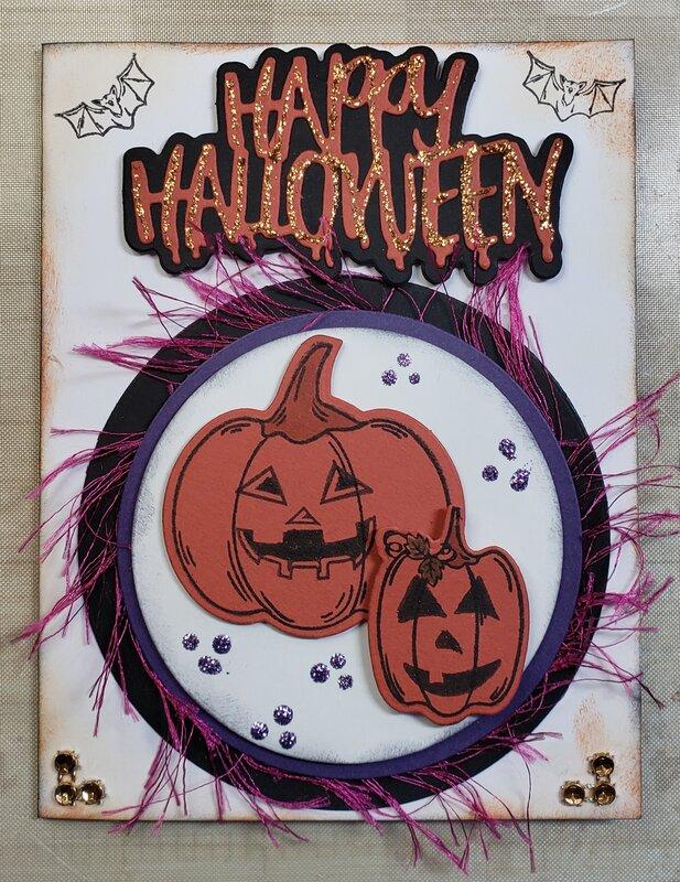 Halloween card for 3 yr old grandson