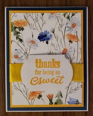 Thank you card for my sister