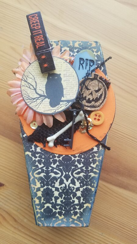 Altered Coffin for Halloween