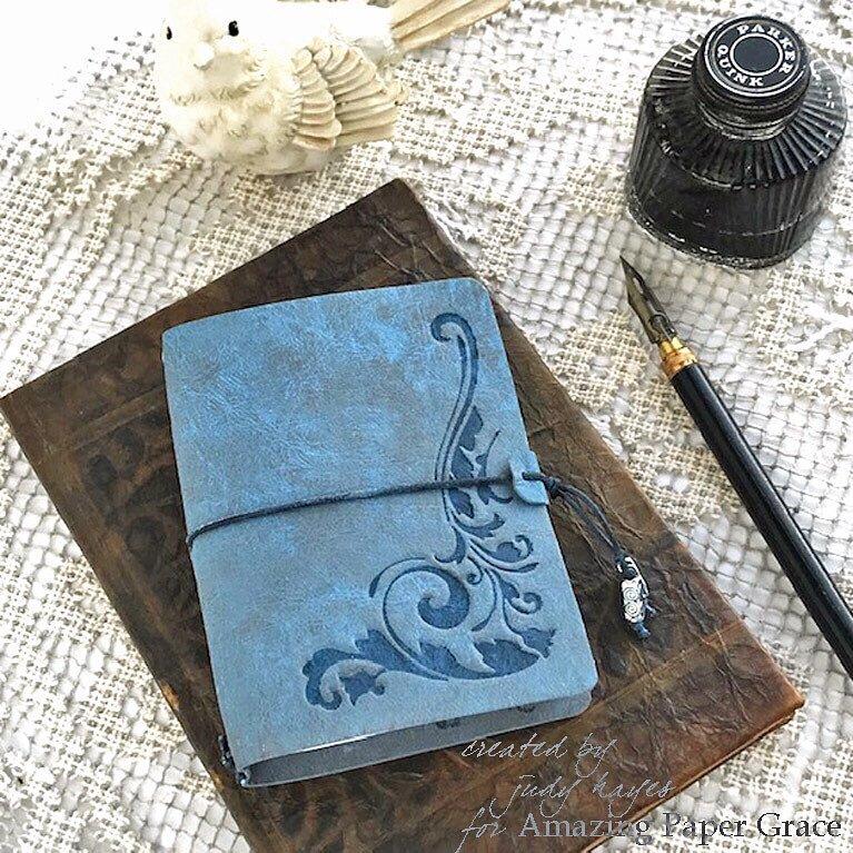 Mini Embossed Travel Journal