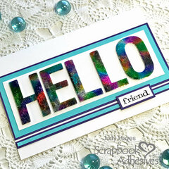 Bold HELLO card with foil