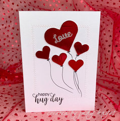 Foil Heart Balloons Card