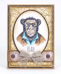 Hipster Ape Card