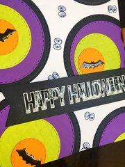 Halloween Card with Spellbinders Fancy Edged Circles dies