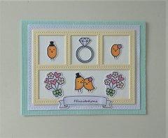 Carte Happy wedding