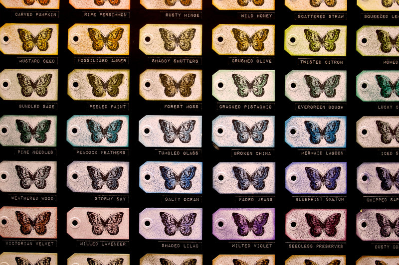 Butterfly Tags and Spray Stain