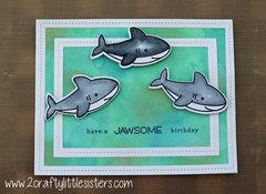 Lawn Fawn Have a Jawsome Birthday Card