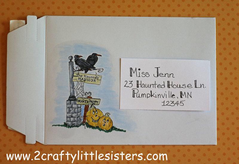 Halloween Envelope Art