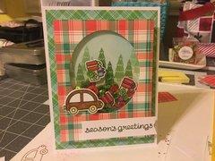 Seasons Greetings Shaker Card