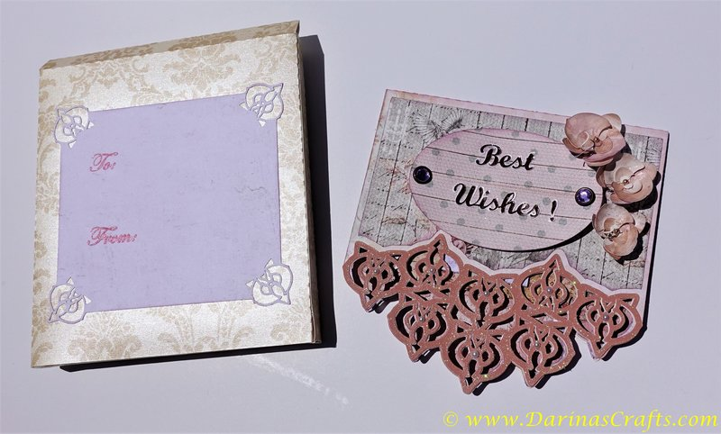 Shaped Deep Edge Orchid Card and a matching Orchid Cardbox