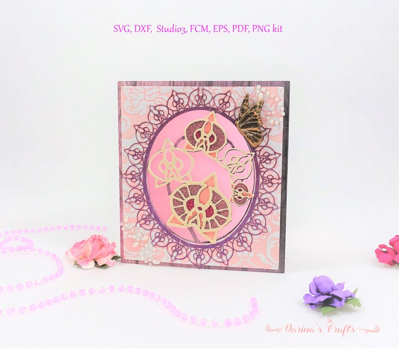 Lacy Orchid Card