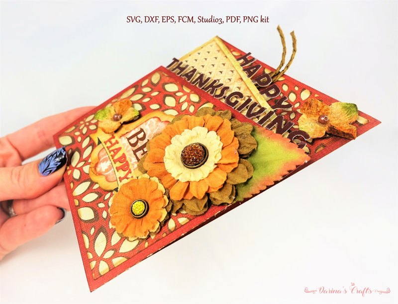 Thanksgiving Z fold Card SVG kit