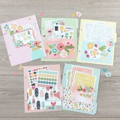 Sticker storage binder - decorated dividers