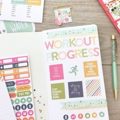 Inside of my fitness doc-it journal