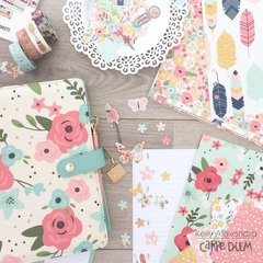 New Carpe Diem Cream Blossom A5 planner