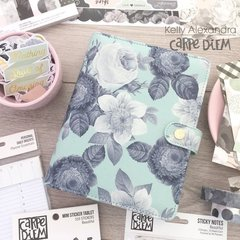 new mint vintage floral personal size planner