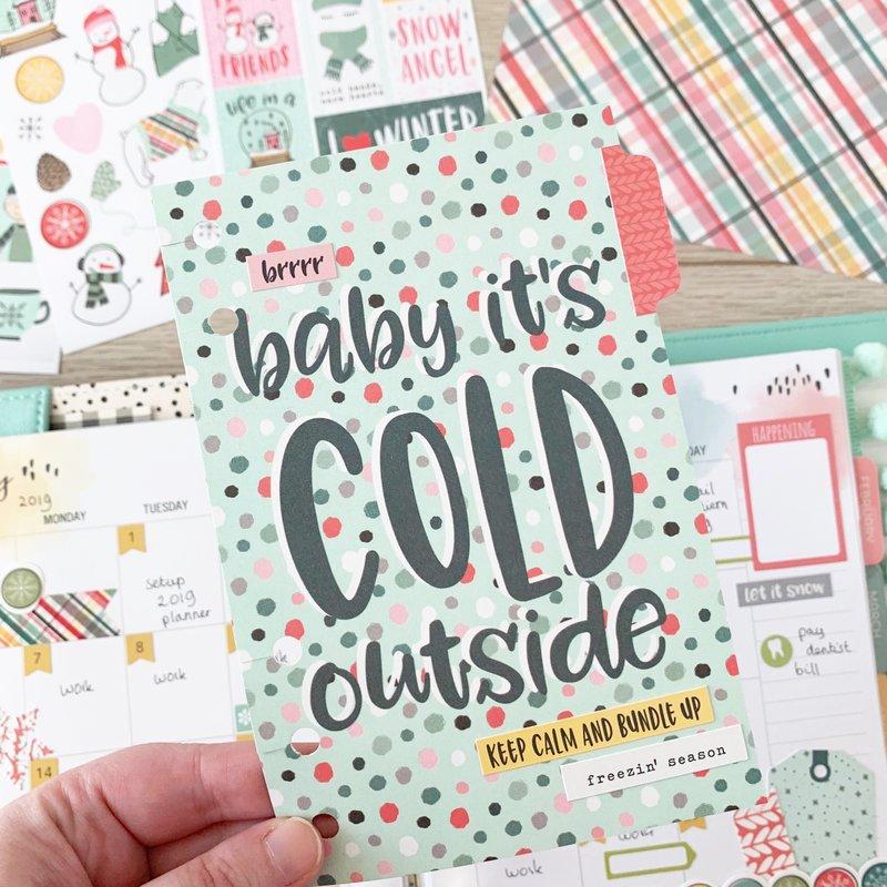 Freezin' Season planner spreads