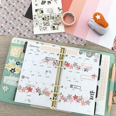 Monthly planner spread