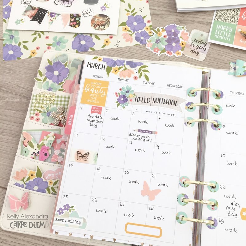 Planner spread decoration