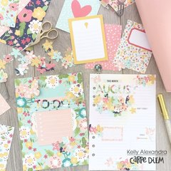 Decorated planner pages